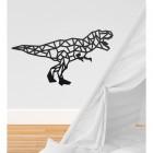 Geometric Iron T-Rex Wall Art in Situ in a Children's Play Room