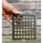 Square Cast Iron Air Cover to Scale