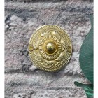 Polished Brass 'Rococo' Bell Push