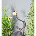 """6"""" Iron Ceramic Shell Tipped Coat Hook in Situ"""
