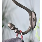 Close up of mounting plate and acorn hook