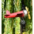Aeroplane Garden Wind Spinner On Spike