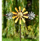 Front View Of Aeroplane Garden Wind Spinner