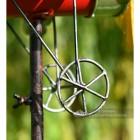 Aeroplane Garden Wind Spinner Close Up