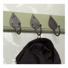 Beeswax Coat Hooks on Olive Green Rack