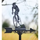 Close-up of the Cyclist Weathervane Topper