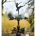 Ballerina Weathervane in Garden