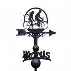 Tandum Bike Weathervane Created From Irion