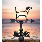 Jack Russel Iron Weathervane in Situ in Front of a Sunset