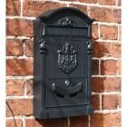 Black Dawsons Lodge Post box with visible mail check