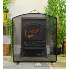 Front View of the Arched Fire Screen in Front of the Fire