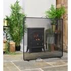 """Castonmere"" Square Black Bespoke Fire Screen"