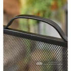 Square Black Bespoke Fire Screen With Handle