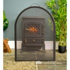 Arched Boxed style Fire Guard finished in Black