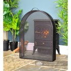 Arched Box Style Fire Guard in Situ in the Living room