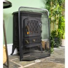 """Heanwood Park"" Small Black Dome Shaped Spark Guard in Situ Next to the Fire Place"