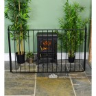 Simplistic Wrought Iron Nursery Fire Guard Finished in Black