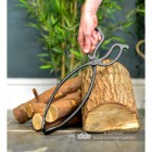 Traditional Iron Log Tongs to Scale