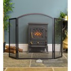 Plain Arched Three Fold Fire Guard -  Showing the Wings of the Fire Guard