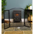 Back View of the Plain Arched Three Fold Fire Guard