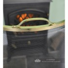 Close Up Of Brass Handle On Fireguard