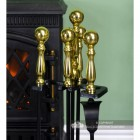 Polished Brass Handles on the Companion in a Traditional Design