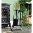Traditional Companion Set Finished in Black and Polished Brass