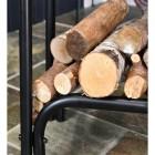 Close up of logs in situ