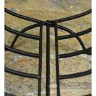 Black Curved Log Holder Close Up