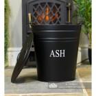 Black Contemporary Ash Bucket with Lid