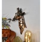 Copper Giraffe Bust in Situ