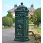 """Pine Forest"" Green Camden Free Standing Post Box"