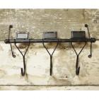 Industrial 3-Hook Coat Rack