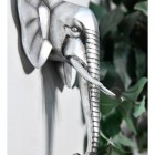 Side view of Silver Elephant Wall Art