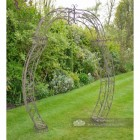 Rustic Curved Rose Arch