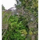 Detailed image of curved frame garden archway