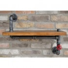 Industrial Wooden & Iron Pipe Shelf