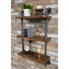 Side view of pipe wall shelves