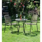 Rattan Round Table & Chairs Bistro Set