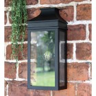 Black Traditional Flush Wall Light