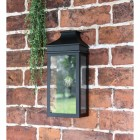 Black Traditional Flush Wall Light in Situ