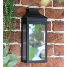Traditional Flush Wall Light in Black