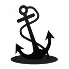 Anchor Iron Door Stop in Black