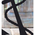 Close-up of the Black Finish on the Anchor Iron Door Stop