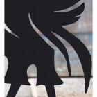 Close-up of the Black Finish on the Liver Bird Iron Door Stop