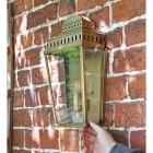 Antique Brass Georgian Manor Simplistic Brass Wall Light in situ