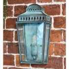 Verdigris Georgian Manor Simplistic Brass Wall Light
