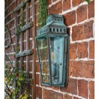 Side view of Verdigris Georgian Manor Wall Light