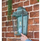 Verdigris Wall Light in full
