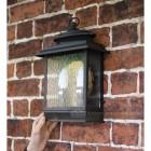 Dark Bronze Traditional Dual Bulb Wall Light